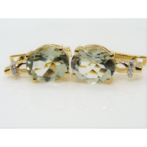 Cercei Luisa -argint placat cu aur -VE014176 ametist verde