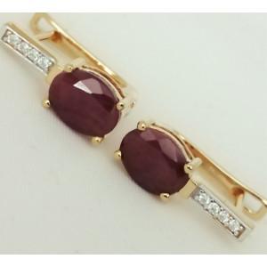 Cercei Maria -argint placat cu aur galben- VE015725-rubin