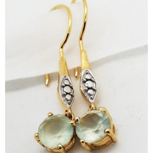 Cercei Tatiana -argint placat cu aur galben- VE018045-calcedonia