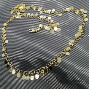 Colier AMALFI - Bănuți- argint placat cu aur galben -CTMP1011PLDGI
