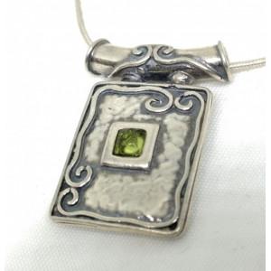 Colier argint cu peridot N1446