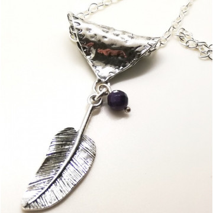 Colier argint -N3595 ametist