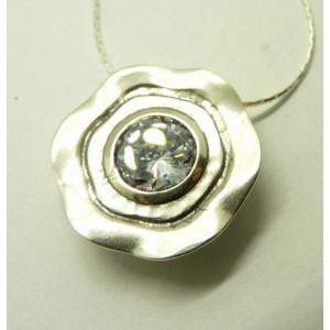 Colier argint N4392 cubic zircon