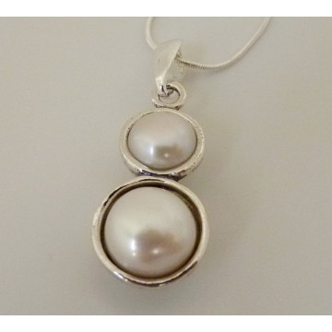Colier argint perla E3549-1481