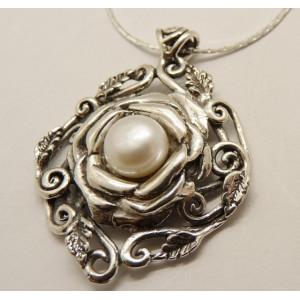 Colier argint perla N10872