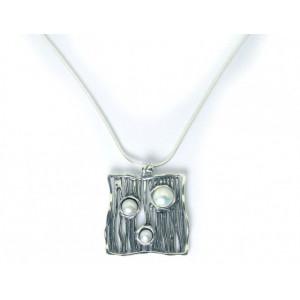 Colier argint perla N3428