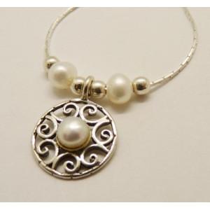 Colier argint perla N5551