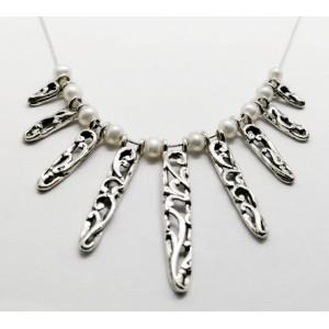 Colier argint perle N10596-9