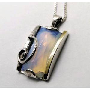 Colier argint si aur 14k -opalit-400912