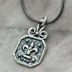 Colier argint vintage style N1275 -Floare de crin