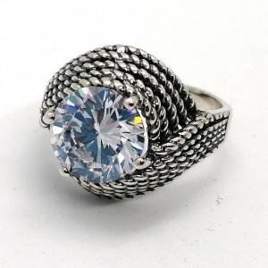 Inel argint cubic zircon R1691