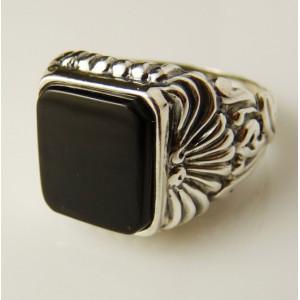 Inel argint onix -R3322