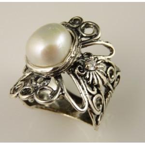 Inel argint -perla de cultura A11807