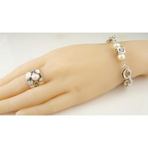 Inel argint perla R2446