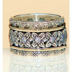 Inel argint si aur 14k -RG10-131
