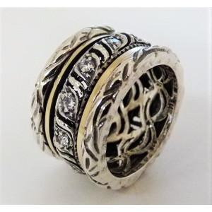 Inel argint si aur 14k -RG10-87