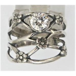 Inel argint zircon R967