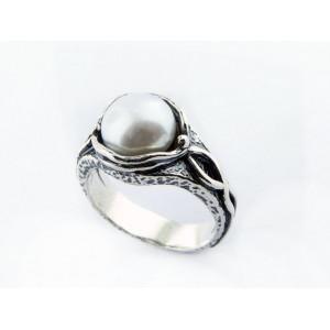 Inel din argint cu perla de cultura- R2839