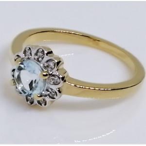 Inel Roberta argint placat si aur -topaz VR034035