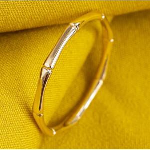 Inel stil BAMBUS-argint placat cu aur galben -ANJJ0805PLGI