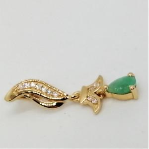 Madison- Pandantiv argint placat cu aur galben -VP027579-smarald