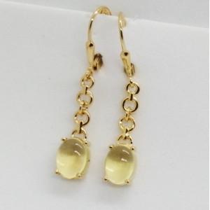 Nancy- cercei argint placati cu aur galben -VE033964 lemon topaz