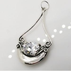 Pandantiv argint - N420-zircon
