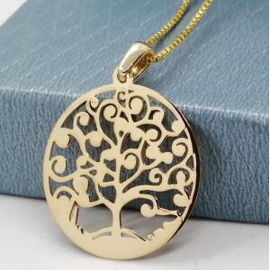 Pandantiv -argint placat cu aur galben-COPACUL VIETII -CNST0115RHP