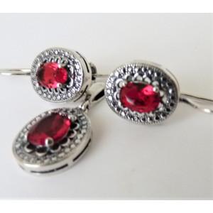 Set argint -red quartz -E3707-P3706