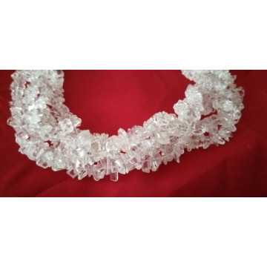 Sirag colier -cristal alb -VBJ010022