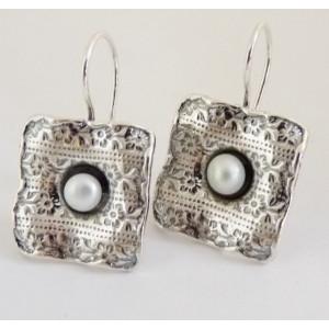 Cercei argint - perla -E554