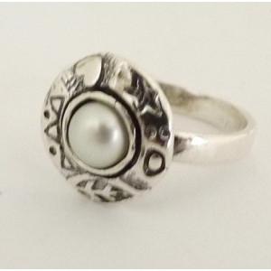 Inel argint perla R2591