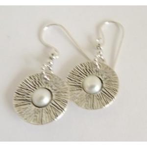 Cercei argint cu perla E1191