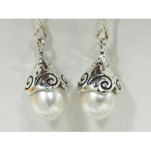 Cercei argint cu perla E1817