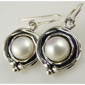 Cercei argint cu perla E2321