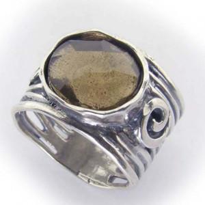 Inel argint -cuart fumuriu -R2671