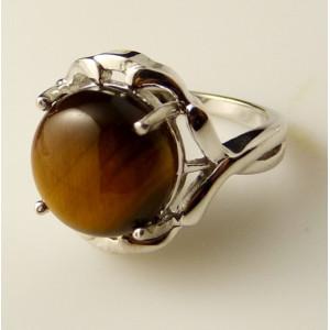 Inel argint -piatra ochi de tigru -VR012689