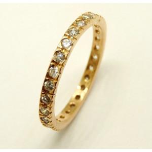Inel argint placat cu aur roz si cristale- ANAN2000PLROS