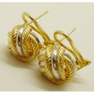 Cercei argint placat cu aur galben- ORSI0106RBGIA