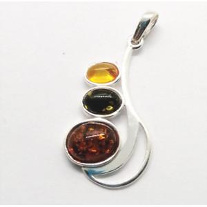 Pandantiv argint chihlimbar P1382-2