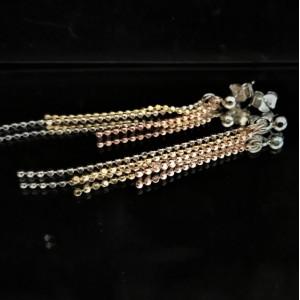 Amanda -Cercei 3 culori -argint si argint placat cu aur galben si roz -ORSS2569RT