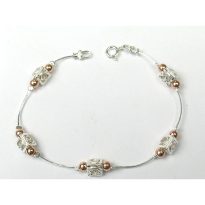 Bratara argint perla BD21