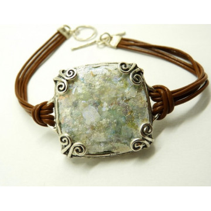 Bratara argint -sticla romana -B9491