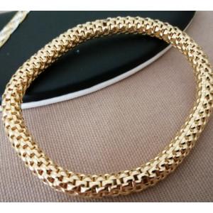 Bratara elastica -argint placat cu aur -BRST7039AGLI