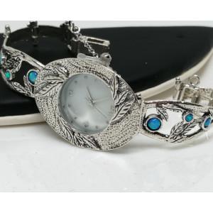 Ceas din argint cu opal - W8414