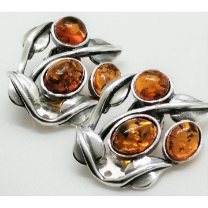 Cercei argint CLIPS -chihlimbar E2637