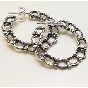 Cercei argint creole E3583