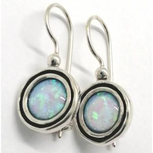 Cercei argint cu piatra opal imperial E1691A