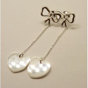 Cercei argint cu surub -inimioare-ORTT3997
