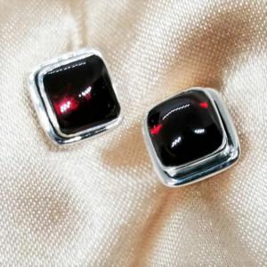 Cercei argint - E236 granat
